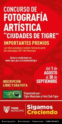 """Concurso de fotografía artística: """"Ciudades de Tigre"""""""
