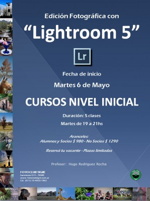 Flyer Curso Lightroom Inicial - FCT - Inicio 6 Mayol 2014