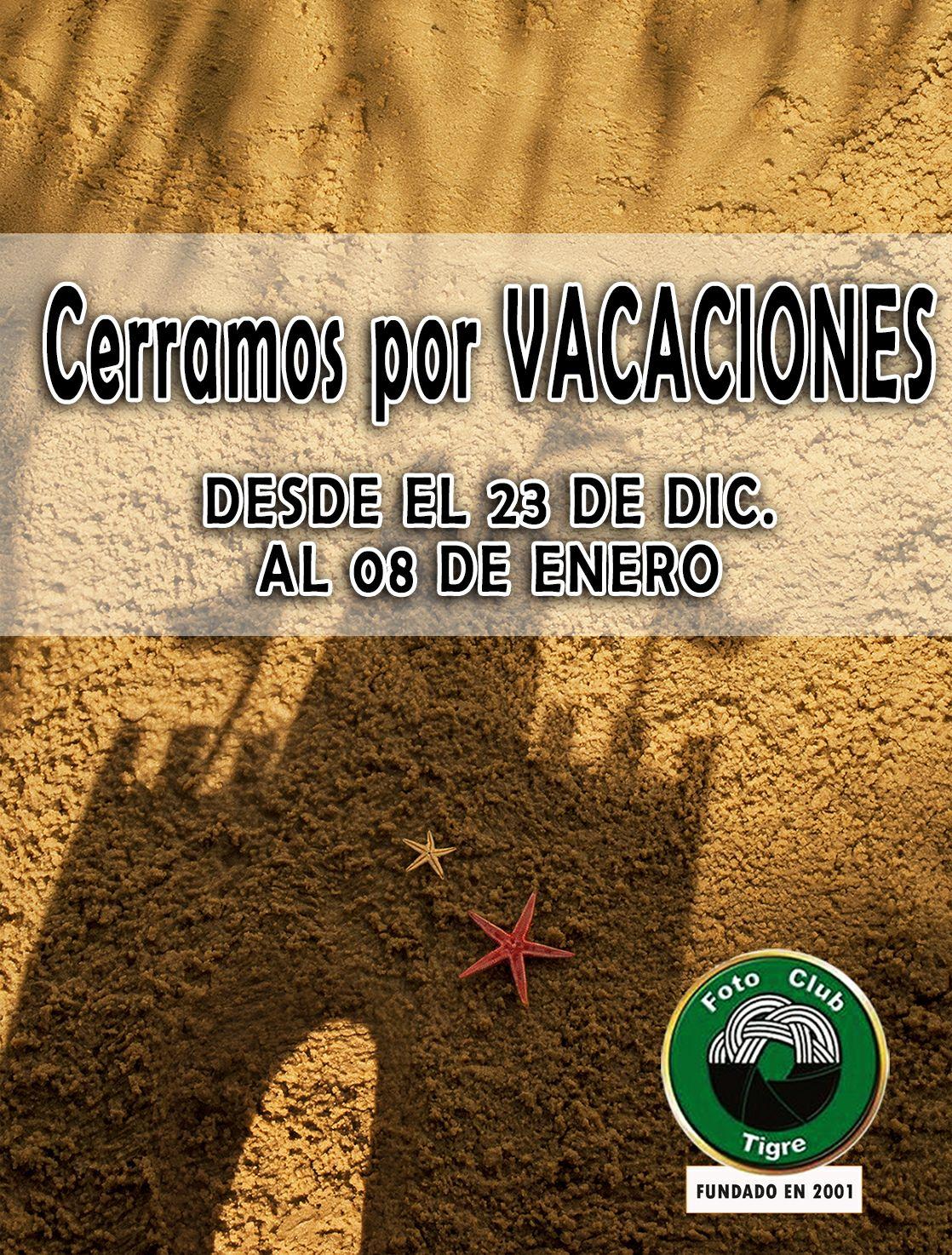CERRADO POR VACACIONES!!