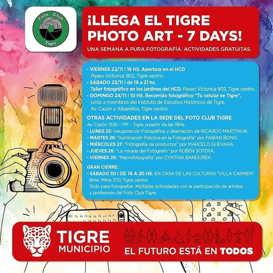 Tigre Photo Art Seven Days - FOTOS día a día