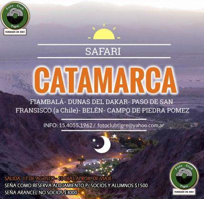 CATAMARCA - SAFARI DE 10 DÍAS- AGOSTO 2018