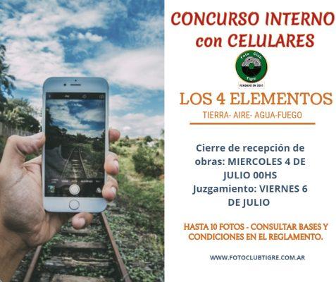 """CONCURSO INTERNO con CELULARES """"LOS 4 ELEMENTOS"""""""