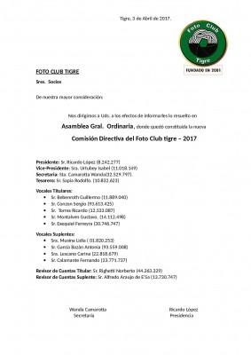 COMISIÓN DIRECTIVA 2017