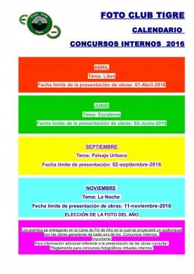 FCT CALENDARIO 2016