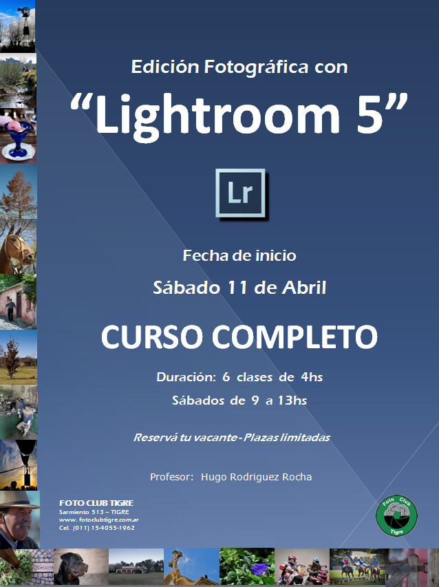 Flyer Curso Lightroom Completo - FCT - Inicio 11 Abril 2015