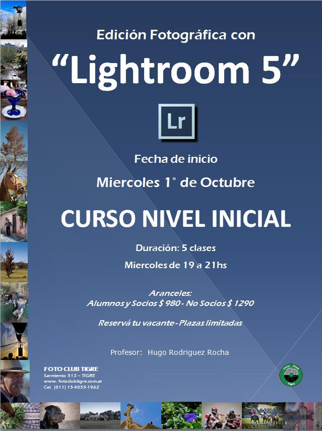 Flyer Curso Lightroom Inicial - FCT - Inicio 1 Octubrel 2014