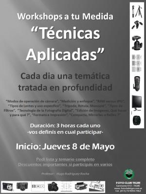 Flyer - Workshops Tecnicas Aplicadas - inicio Jue 8 Mayo 2014