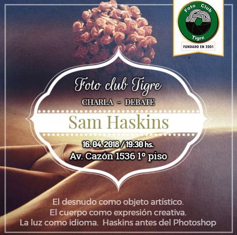 SAM HASKINS: CHARLA – DEBATE Lunes 16.04.2018 / 19:30hs / ENTRADA LIBRE Y GRATUITA