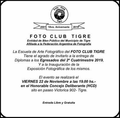 ENTREGA DE DIPLOMAS E INAUGURACIÓN DEL TIGRE PHOTO ART SEVEN DAYS