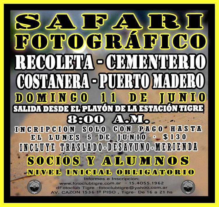 SAFARI FOTOGRÁFICO PARA SOCIOS Y ALUMNOS, DOMINGO 11 DE JUNIO