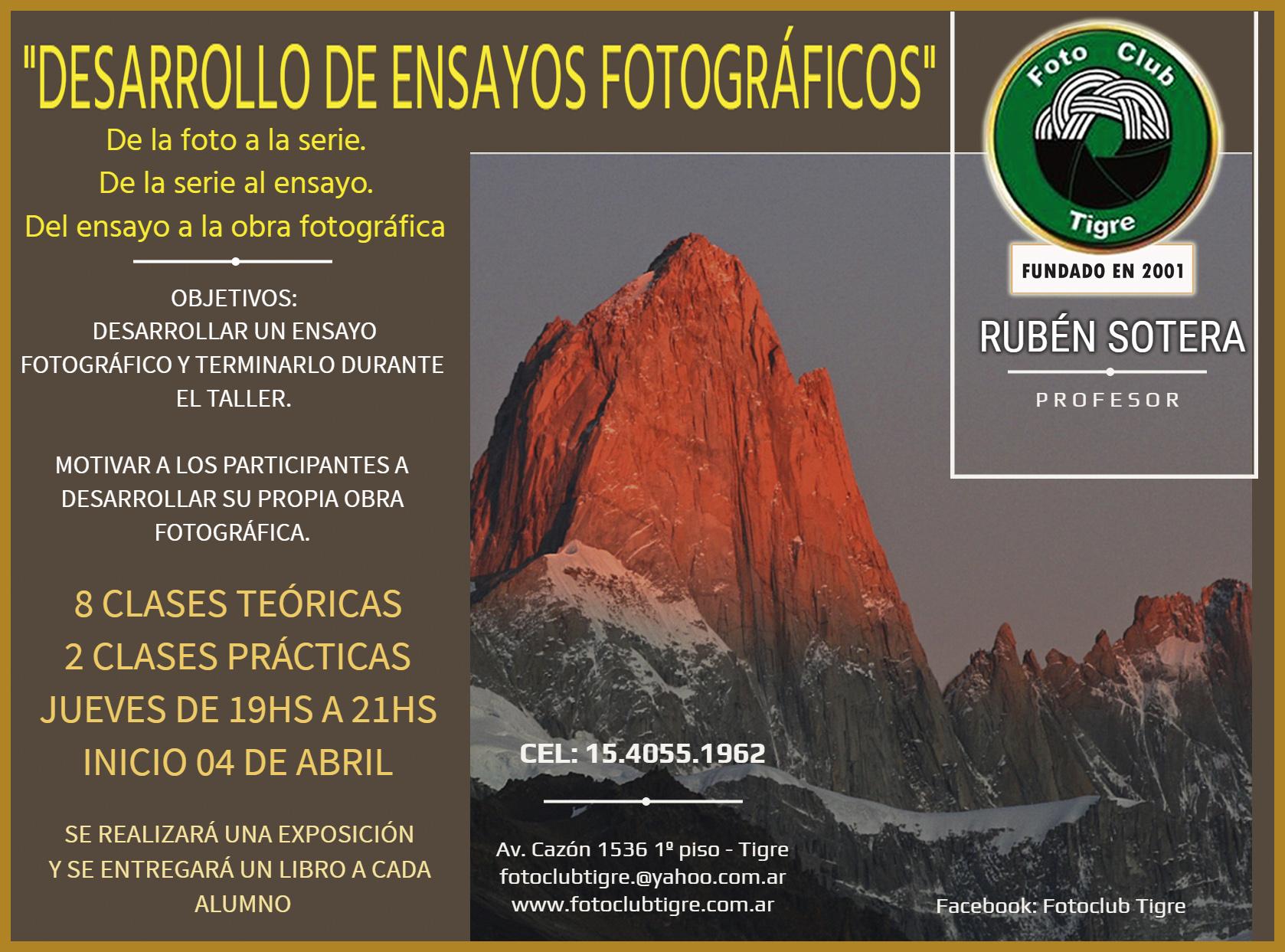Taller: Desarrollo de ensayos fotográficos – Rúben Sotera