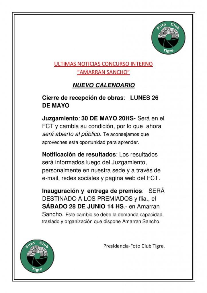 ULTIMAS NOTICIAS CONCURSO INTERNO 1-