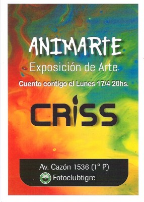 "MUESTRA DE ARTE- Cristina Bustamante ""ANIMARTE"""