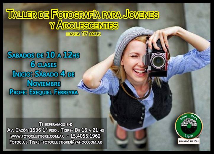 TALLER DE FOTOGRAFÍA PARA JÓVENES Y ADOLESCENTES